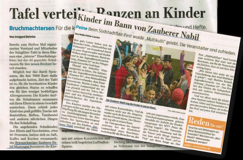 Auftritte von Zauberer Nabil in der Presse